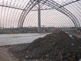 Белая красивейшая ферменная конструкция пробки парка воды стальной структуры