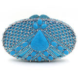 Fashion Design Crystalstone Clutch Purses Luxe Ladies Handbbag Leb753