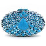 A embreagem de Crystalstone do projeto da forma franze senhoras luxuosas Handbbag Leb753
