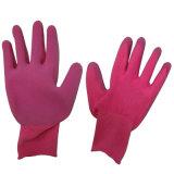 Guanto ricoperto di giardinaggio variopinto del lavoro di Safey della gomma spugna dei guanti