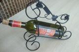 Cremagliere decorative del vino di stile creativo per la mensola della casa della barra di hotel, cremagliera d'argento luminosa del vino del supporto