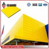 Панель полиэфира Ideabond алюминиевая составная (AE-38B рекламируя желтый цвет)