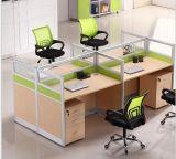 木MDFのオフィスの区分クラスタ事務員のスタッフワークステーション(HX-NCD286)