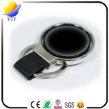 Chaîne principale noire de cuir d'unité centrale et en métal de forme ronde