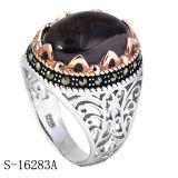 Argento sterlina di vendita caldo 925 con gli anelli di rame degli uomini