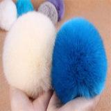 プラシ天ののどのウサギの毛皮の球Keychain