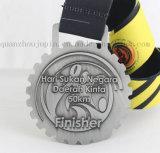 Medaglia del metallo dell'OEM 3D con il nastro per il ricordo promozionale del regalo