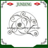 El panel decorativo de la flor del hierro labrado para la puerta del hierro o el pasamano del hierro