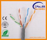 Prueba de la platija que pasa cable de LAN de UTP Cat5e 100 ohmios