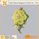 Flor artificial de cerámica del ornamento de la flor de la porcelana pequeña