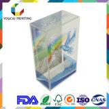 Rectángulo transparente elegante de PVC/Pet/PP para la visualización del producto