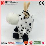 Vache ronde à peluches de cadeau de jouet de peluche pour des gosses