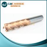 Flautas lisas HRC60 do cortador 4 do moinho de extremidade do carboneto