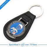 Anel chave do couro do logotipo do carro da alta qualidade para a lembrança