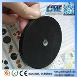 内部の糸の穴のゴム製上塗を施してある磁石LEDランプの磁気ベース