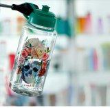 пластмасса 1L резвится бутылка воды с крышкой винта и соплом всасывания