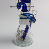 in de Nieuwe Waterpijp Shisha 12 Duim 7mm de Rokende Waterpijp Borosilicate van de Fabriek van de Voorraad van het Glas Illadelph met Spaander Milli op Blauwe Levering voor doorverkoop