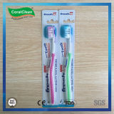 Toothbrush di Du Pont degli adulti alti freschi della setola con la ruspa spianatrice di linguetta