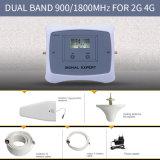 新しくスマートなデュアルバンド900/1800MHz 2g 4Gの移動式シグナルのブスターの細胞シグナルの中継器