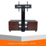 El soporte del plasma TV del MDF LCD del vidrio Tempered de la alta calidad tiene cajones
