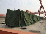 O PVC da Rasgar-Resistência revestiu o encerado para o empacotamento/o armazenamento/tampa da carga