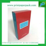 Rectángulo de empaquetado impreso insignia del perfume de encargo del rectángulo de papel