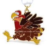 Medaglia personalizzata del metallo del gallo per 2017 nuovi anni cinesi