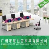 Nuevo vector del sitio de trabajo de los muebles de oficinas del estilo con la pantalla de la partición