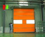 Puerta de alta velocidad probada Ce estándar 2017 del balanceo del PVC del plástico de la UE/puerta de alta velocidad