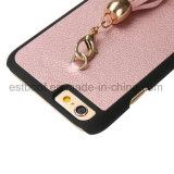 Caisse en cuir de téléphone avec des accessoires de gland ultra minces