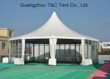 Tente polygonale de 500 de personnes Multi-Côtés de tente ronde avec les murs en verre à vendre 2017