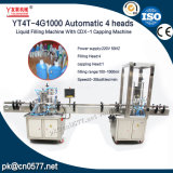 Automatische 4 Kopf-flüssige Füllmaschine mit mit einer Kappe bedeckender Maschine inline