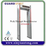 Caminata de las zonas de la arcada 6 a través del detector de metales del marco de puerta de la puerta con 4 columnas del LED
