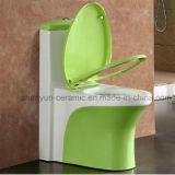 Toilette d'une seule pièce de couleur de salle de bains de toilette (A-035)