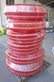 Tuyau extérieur ondulé d'aspiration de PVC de rouge