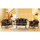 Sofá da sala de visitas com frame de madeira do sofá (D650)