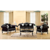 Sofa Set mit Wood Sofa Frame und Side Table (D987)