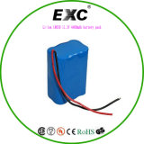 Packs batterie rechargeable de vie de cycle de pack batterie d'ion de FCC RoHS 14.8V Li de la CE long 18650