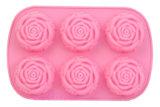 Moulage fabriqué à la main de savon de silicones de moulage de gâteau de moule à gâteaux de silicones de fleur de 6 trellis