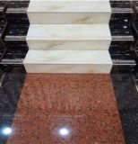 Mármol y Granito pulido de baldosas de piedra por suelo radiante / Escalera con Blanco / Rojo / Negro / Amarillo Paso losa de piedra Tile1000 * 260/300 * 170mm