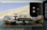 Sofá moderno del cuero de la sala de estar (SBL-9007)