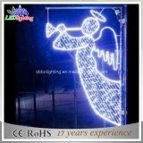 Motief van Pool van de Engel van de Straat van Kerstmis het Seizoen Gegalvaniseerde Lichte voor Verkoop