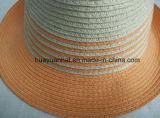 노란 빛 중절모 모자를 가진 90%Paper 10% 폴리에스테