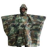 Het kamperen de Nylon Pu Poncho van de Camouflage