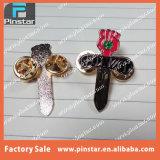 고품질 주문 칼 모양 Goldtone 연약한 사기질 접어젖힌 옷깃 Pin 의 톰슨 Gonz 시리즈