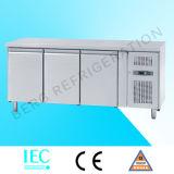 Refrigerador comercial del alimento del acero inoxidable de la cocina de 3 puertas