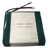 7.4V Polymer Lithium Battery für Portable DVD-Spieler (1050mAh)