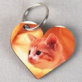 MDF Heart Shape Keychain 55X55mm de Printable do Sublimation
