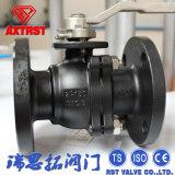 Válvula de bola con bridas 2PC Wcb de acero al carbono API