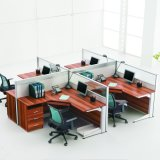 Sitio de trabajo de madera con estilo de la oficina de Parition para 4 personas (SZ-WST628)